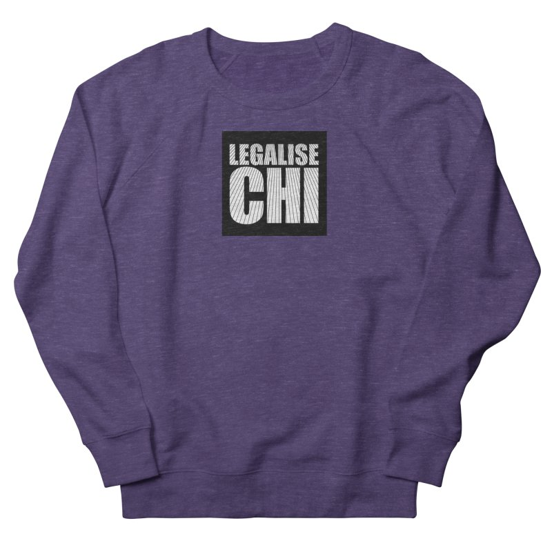 Legalise Chi Black Women's French Terry Sweatshirt by Jost Sauer Chi Cycle Lifestyle