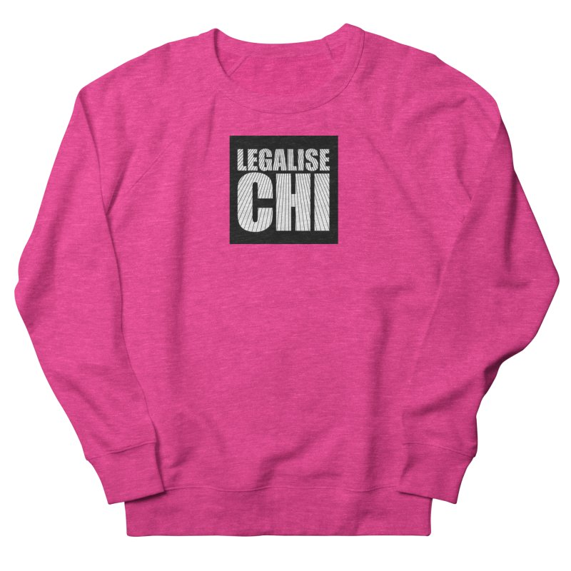 Legalise Chi Black Men's French Terry Sweatshirt by Jost Sauer Chi Cycle Lifestyle