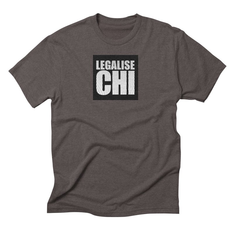 Legalise Chi Black Men's Triblend T-Shirt by Jost Sauer Chi Cycle Lifestyle