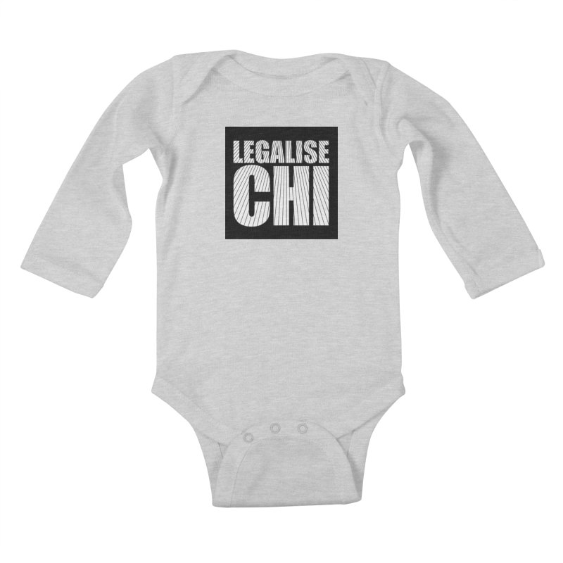 Legalise Chi Black Kids Baby Longsleeve Bodysuit by Jost Sauer Chi Cycle Lifestyle