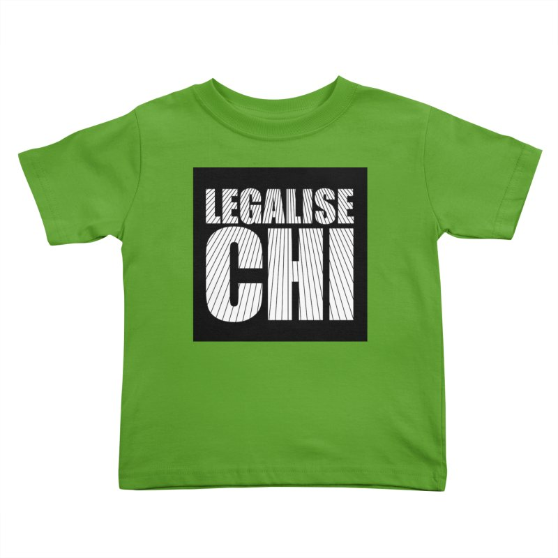 Legalise Chi Black Kids Toddler T-Shirt by Jost Sauer Chi Cycle Lifestyle