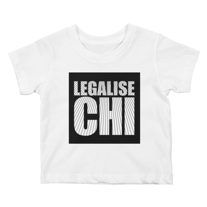 Legalise Chi Black Kids Baby T-Shirt by Jost Sauer Chi Cycle Lifestyle