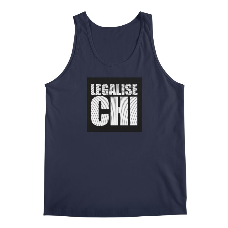 Legalise Chi Black Men's Regular Tank by Jost Sauer Chi Cycle Lifestyle