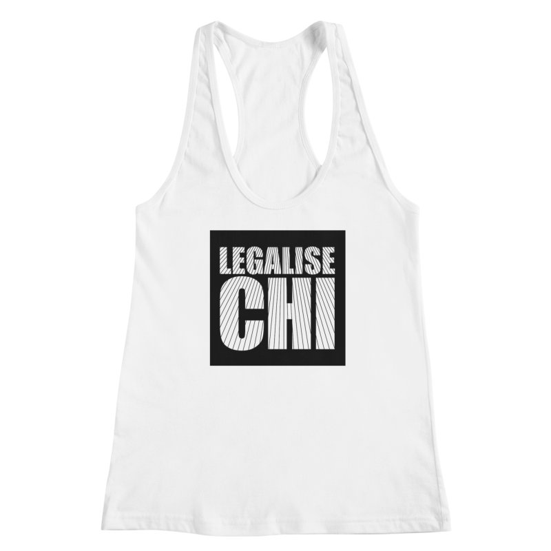 Legalise Chi Black Women's Racerback Tank by Jost Sauer Chi Cycle Lifestyle