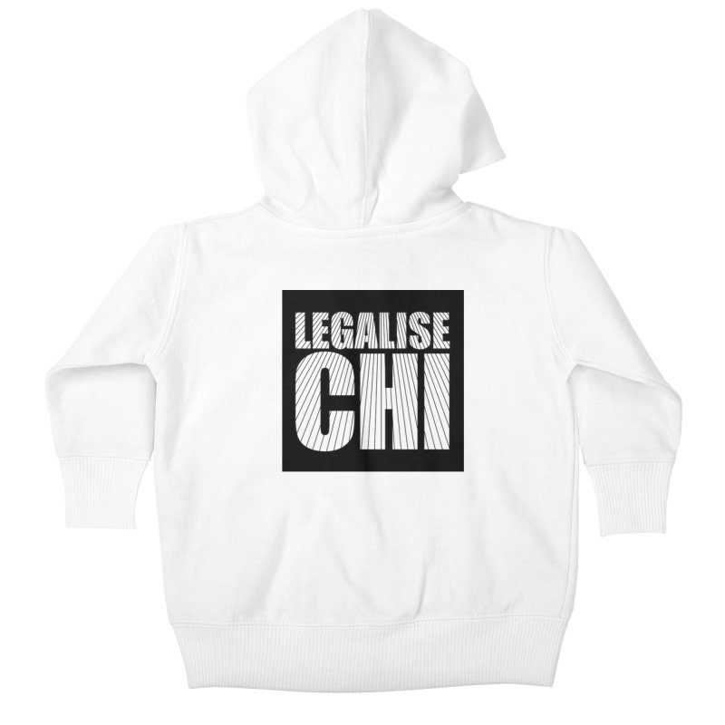 Legalise Chi Black Kids Baby Zip-Up Hoody by Jost Sauer Chi Cycle Lifestyle