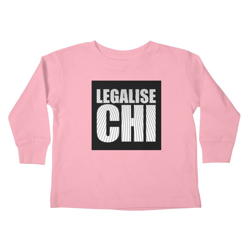 Legalise Chi Black Kids Toddler Longsleeve T-Shirt by Jost Sauer Chi Cycle Lifestyle
