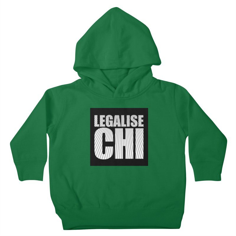 Legalise Chi Black Kids Toddler Pullover Hoody by Jost Sauer Chi Cycle Lifestyle