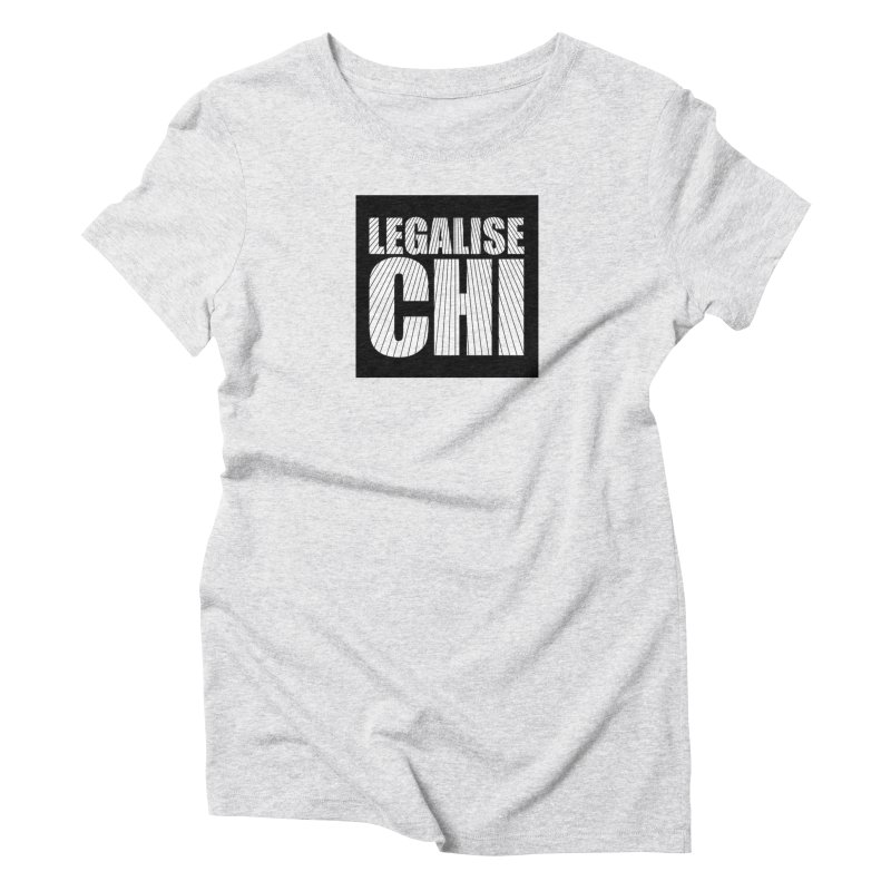 Legalise Chi Black Women's Triblend T-Shirt by Jost Sauer Chi Cycle Lifestyle