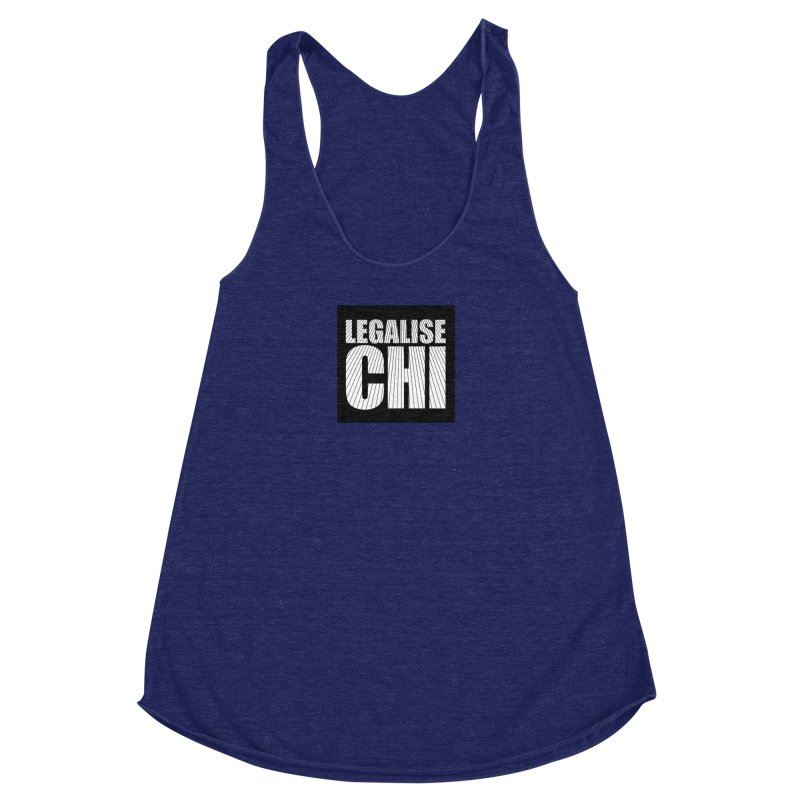 Legalise Chi Black Women's Racerback Triblend Tank by Jost Sauer Chi Cycle Lifestyle