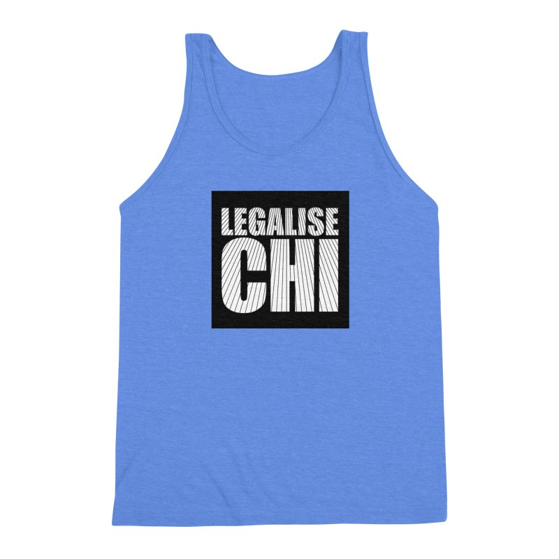 Legalise Chi Black Men's Triblend Tank by Jost Sauer Chi Cycle Lifestyle