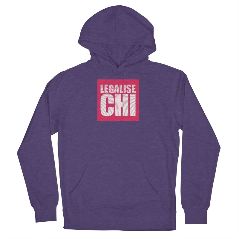 Legalise Chi Pink Women's French Terry Pullover Hoody by Jost Sauer Chi Cycle Lifestyle