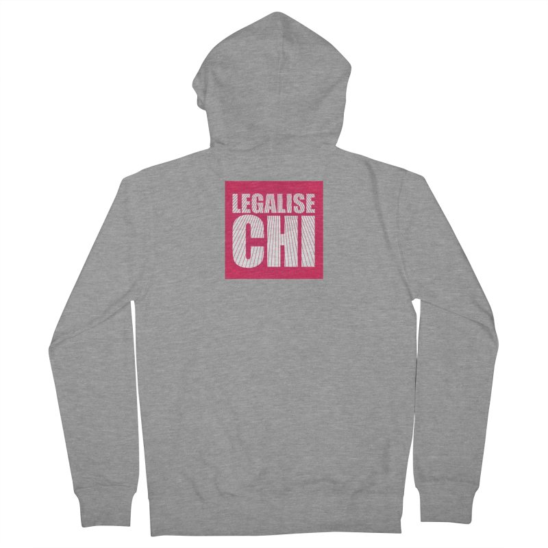 Legalise Chi Pink Women's French Terry Zip-Up Hoody by Jost Sauer Chi Cycle Lifestyle