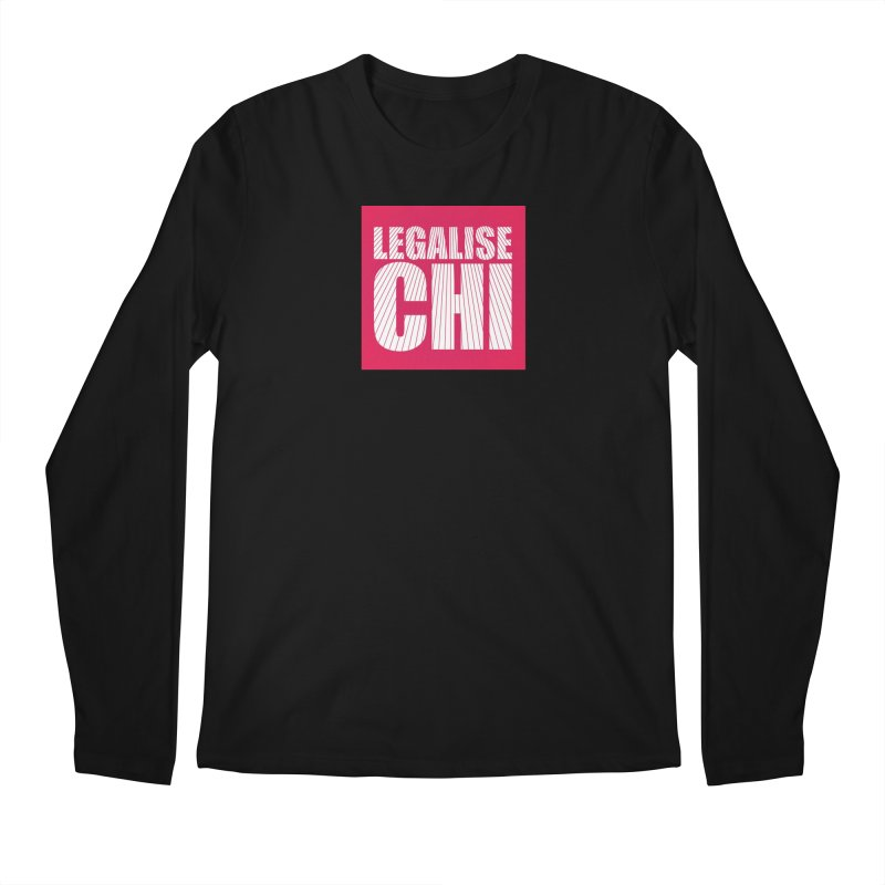 Legalise Chi Pink Men's Regular Longsleeve T-Shirt by Jost Sauer Chi Cycle Lifestyle