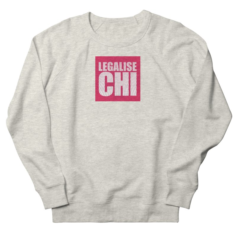 Legalise Chi Pink Women's French Terry Sweatshirt by Jost Sauer Chi Cycle Lifestyle