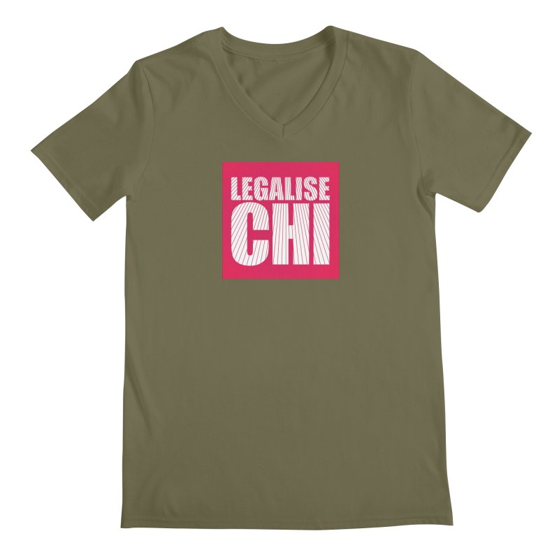 Legalise Chi Pink Men's Regular V-Neck by Jost Sauer Chi Cycle Lifestyle