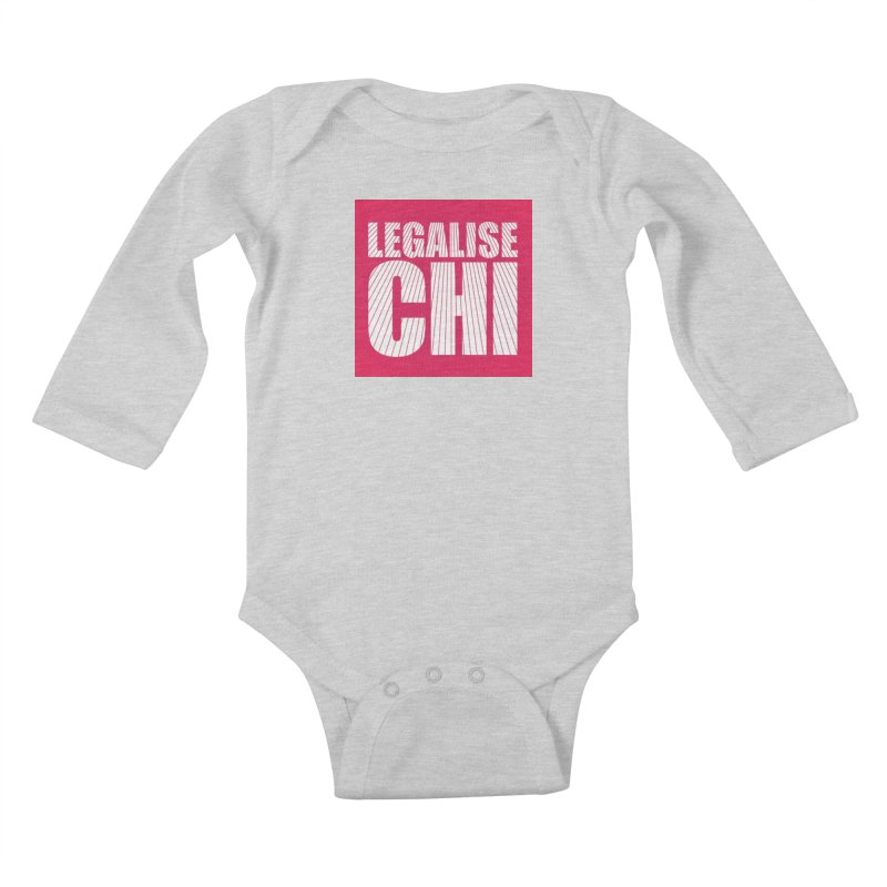 Legalise Chi Pink Kids Baby Longsleeve Bodysuit by Jost Sauer Chi Cycle Lifestyle