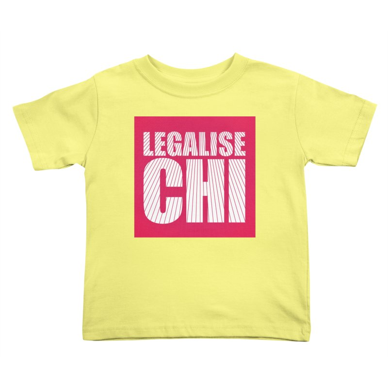 Legalise Chi Pink Kids Toddler T-Shirt by Jost Sauer Chi Cycle Lifestyle