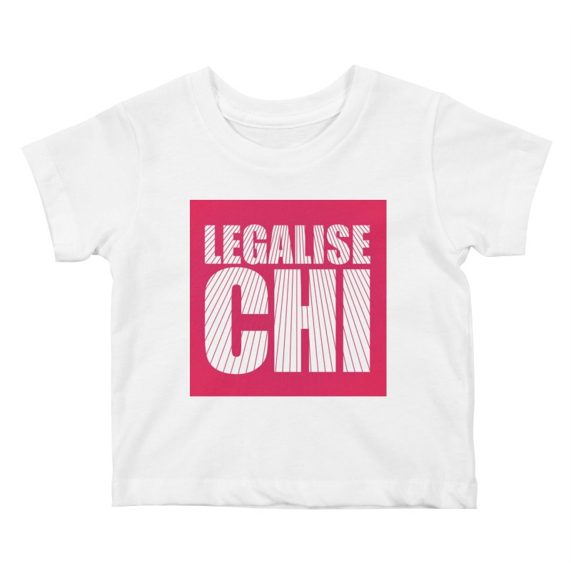 Legalise Chi Pink Kids Baby T-Shirt by Jost Sauer Chi Cycle Lifestyle