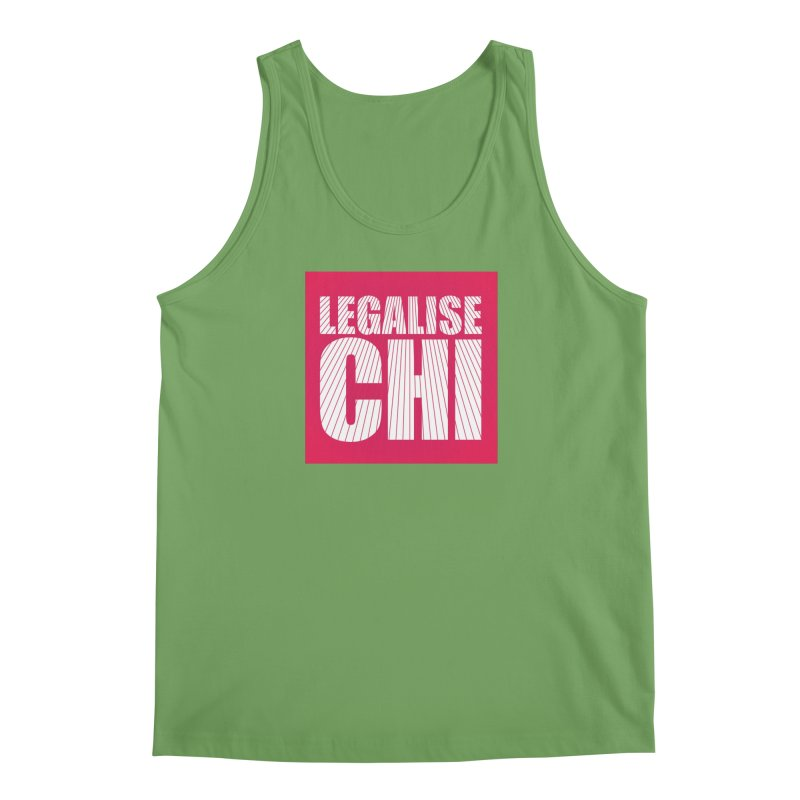Legalise Chi Pink Men's Tank by Jost Sauer Chi Cycle Lifestyle