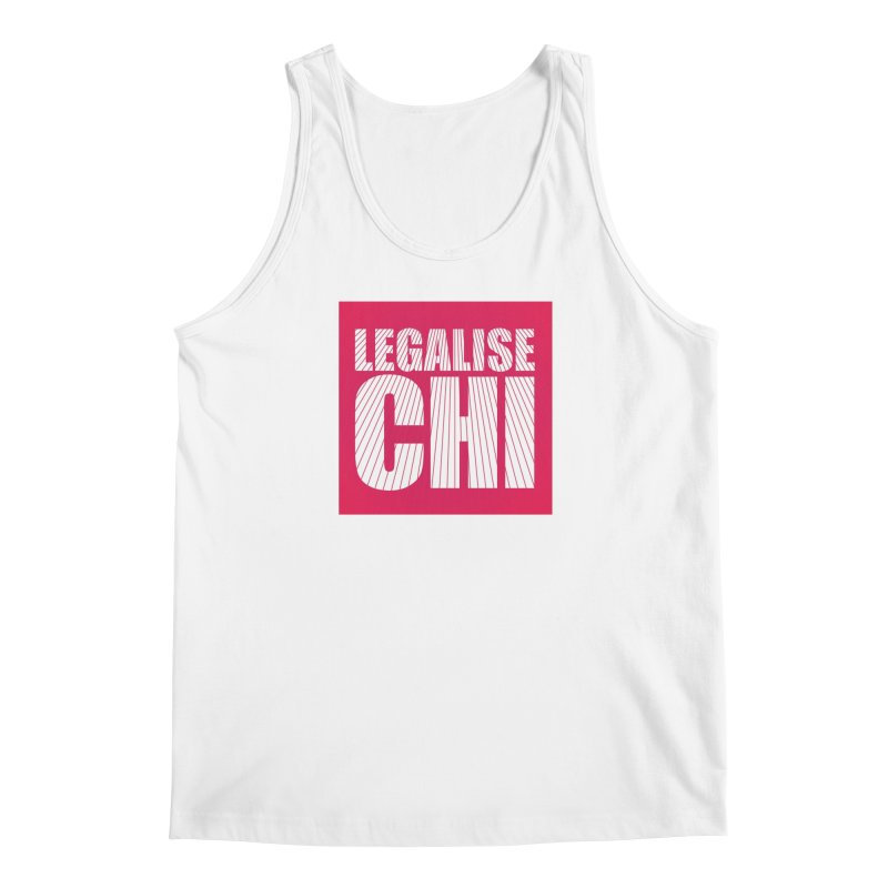 Legalise Chi Pink Men's Regular Tank by Jost Sauer Chi Cycle Lifestyle
