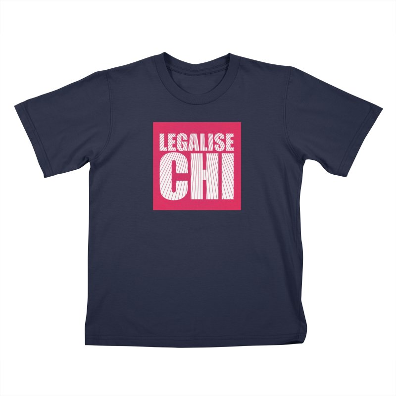Legalise Chi Pink Kids T-Shirt by Jost Sauer Chi Cycle Lifestyle