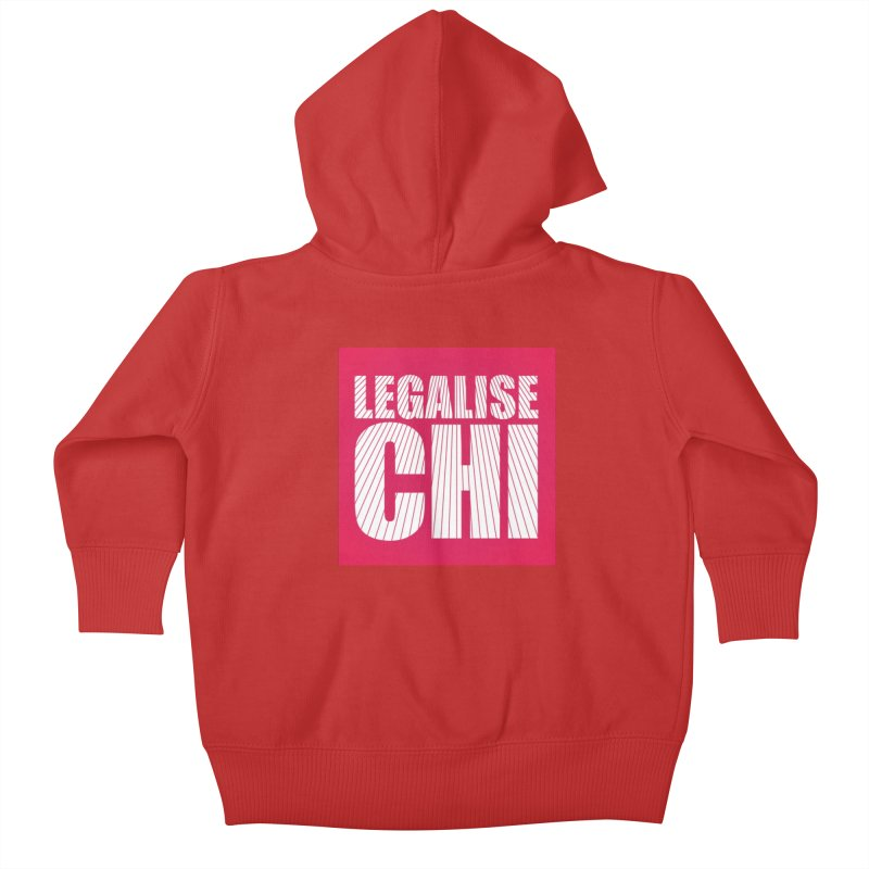 Legalise Chi Pink Kids Baby Zip-Up Hoody by Jost Sauer Chi Cycle Lifestyle