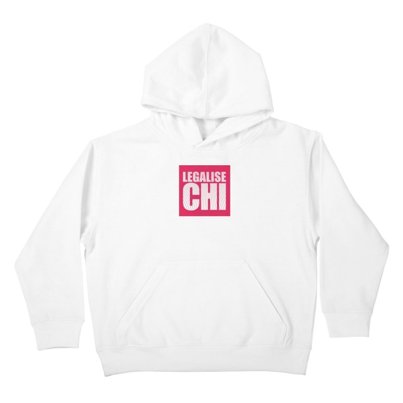 Legalise Chi Pink Kids Pullover Hoody by Jost Sauer Chi Cycle Lifestyle