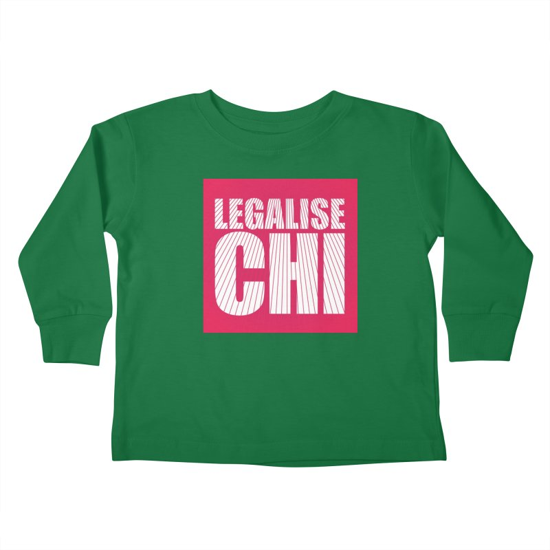 Legalise Chi Pink Kids Toddler Longsleeve T-Shirt by Jost Sauer Chi Cycle Lifestyle