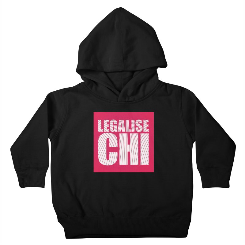 Legalise Chi Pink Kids Toddler Pullover Hoody by Jost Sauer Chi Cycle Lifestyle