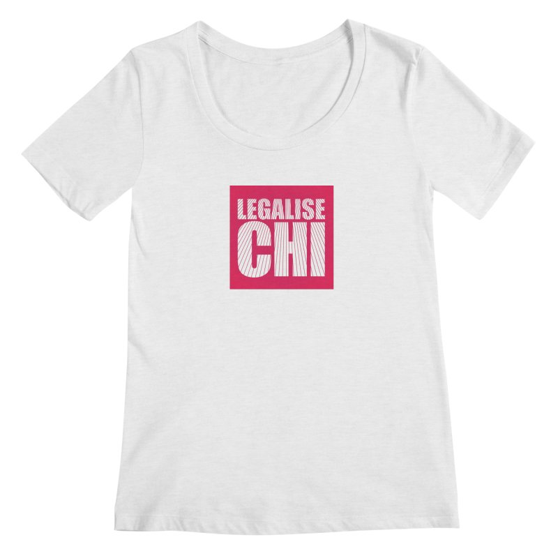 Legalise Chi Pink Women's Scoop Neck by Jost Sauer Chi Cycle Lifestyle