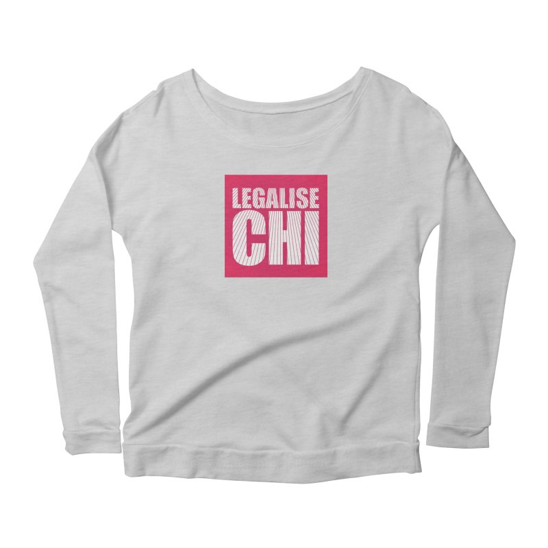 Legalise Chi Pink Women's Scoop Neck Longsleeve T-Shirt by Jost Sauer Chi Cycle Lifestyle