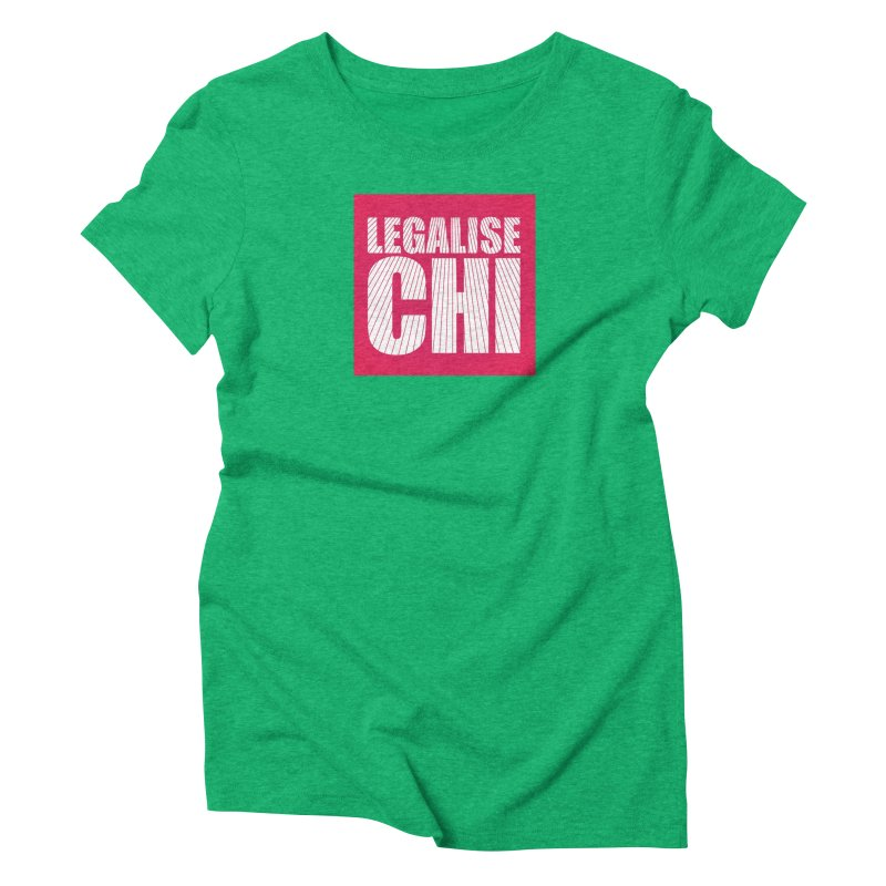 Legalise Chi Pink Women's Triblend T-Shirt by Jost Sauer Chi Cycle Lifestyle