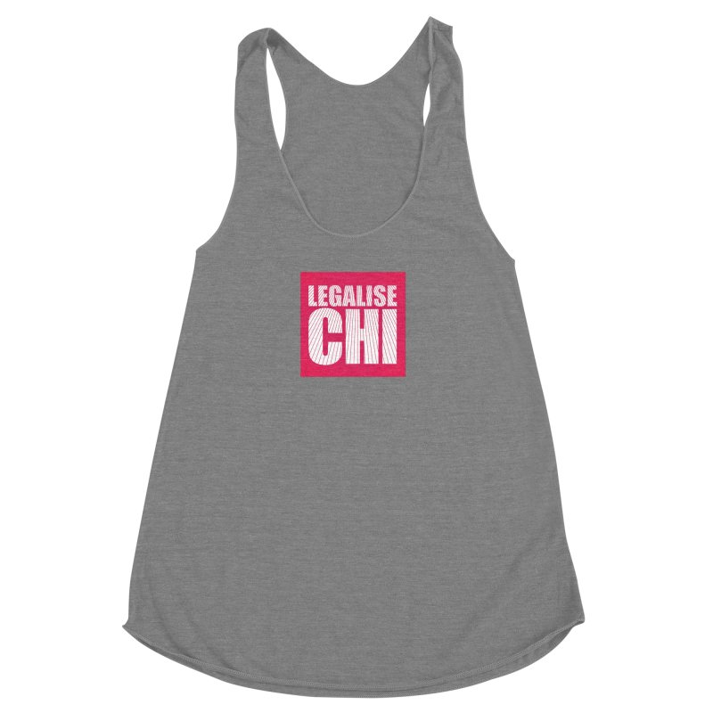 Legalise Chi Pink Women's Racerback Triblend Tank by Jost Sauer Chi Cycle Lifestyle