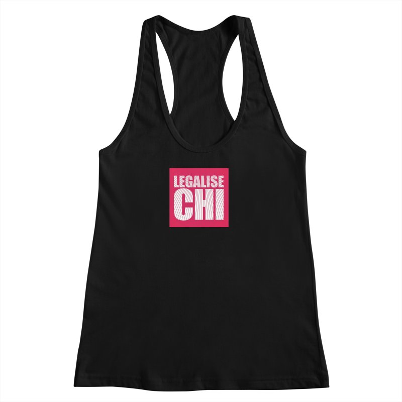 Legalise Chi Pink Women's Racerback Tank by Jost Sauer Chi Cycle Lifestyle