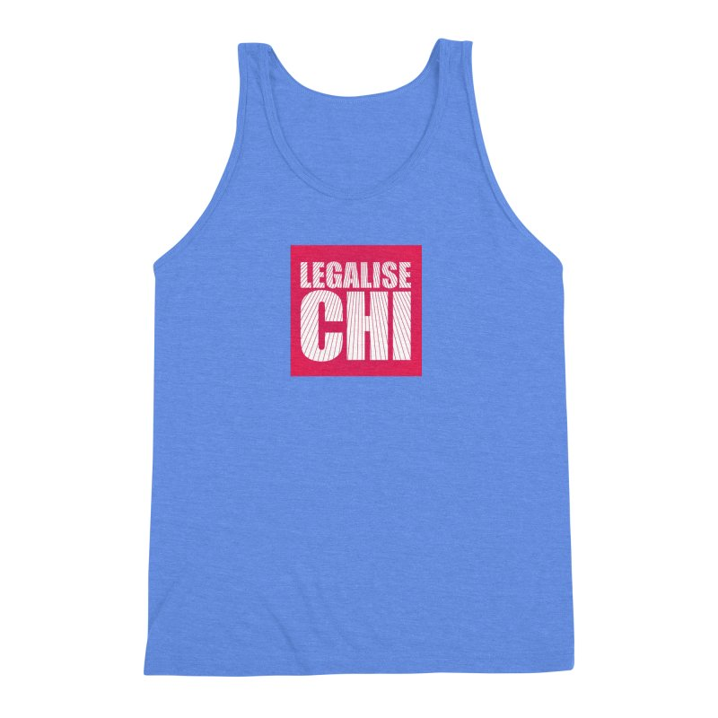 Legalise Chi Pink Men's Triblend Tank by Jost Sauer Chi Cycle Lifestyle