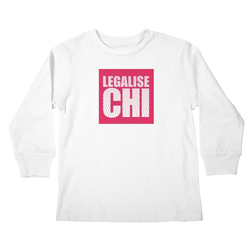 Legalise Chi Pink Kids Longsleeve T-Shirt by Jost Sauer Chi Cycle Lifestyle