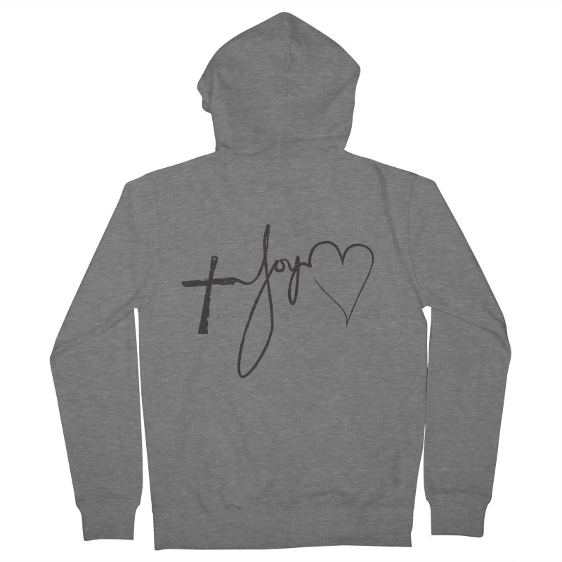 faith-joy-love Women's Zip-Up Hoody by Journey of You - fitness and lifestyle