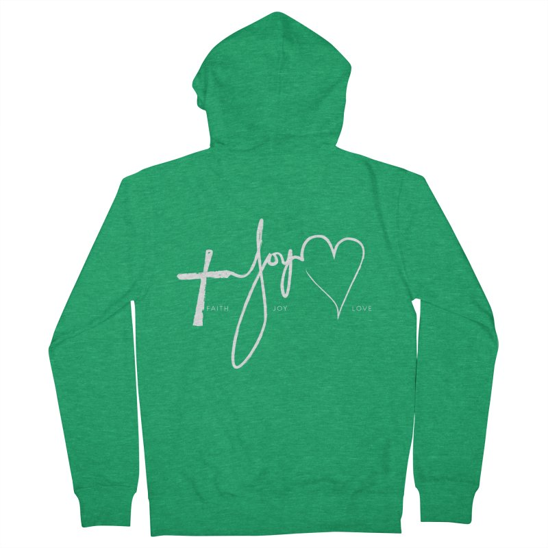 faith-joy-love-on-color Women's Zip-Up Hoody by Journey of You - fitness and lifestyle