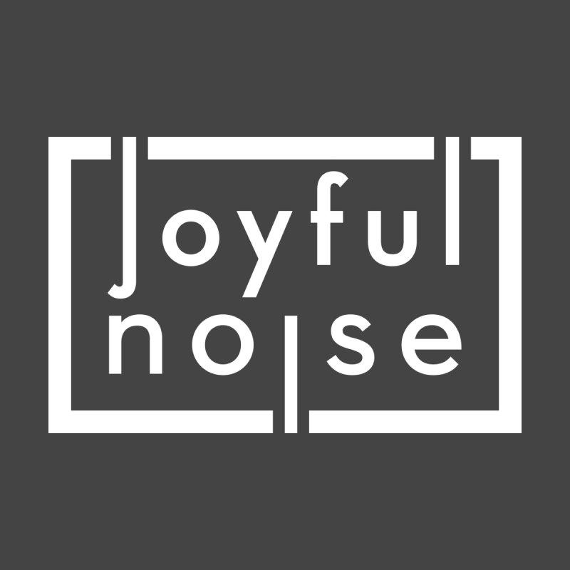 Joyful Noise Logo (White) Men's Zip-Up Hoody by Joyful Noise Recordings