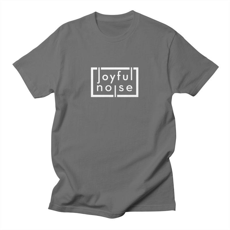 Joyful Noise Logo (White) Men's T-Shirt by Joyful Noise Recordings