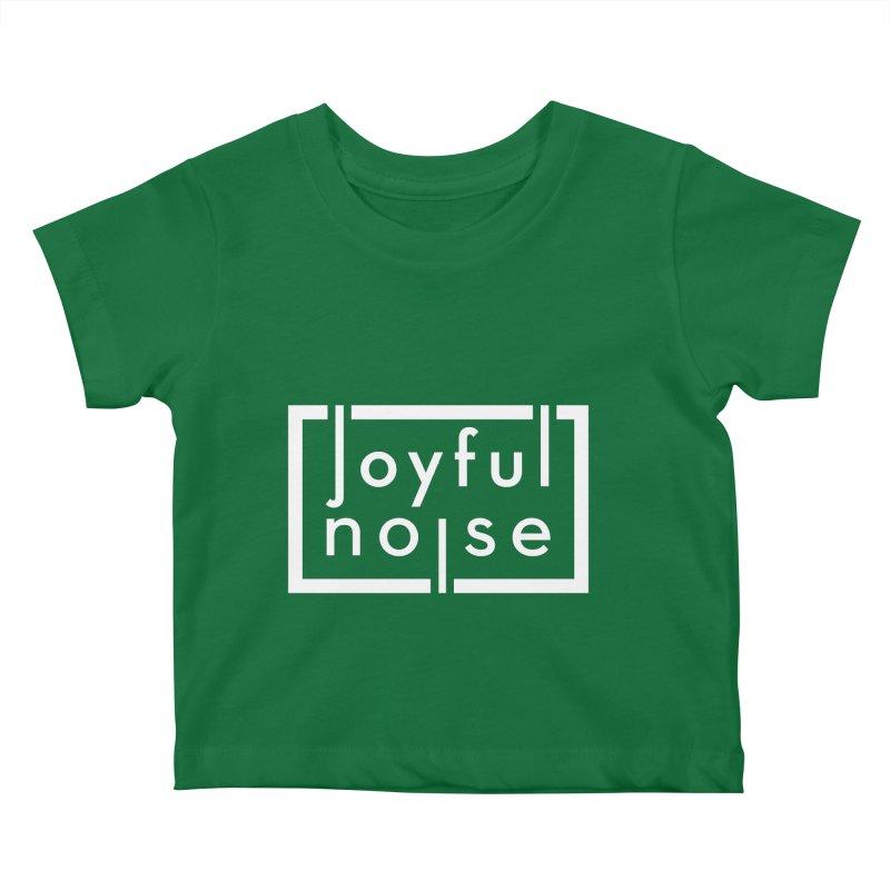 Joyful Noise Logo (White) Kids Baby T-Shirt by Joyful Noise Recordings