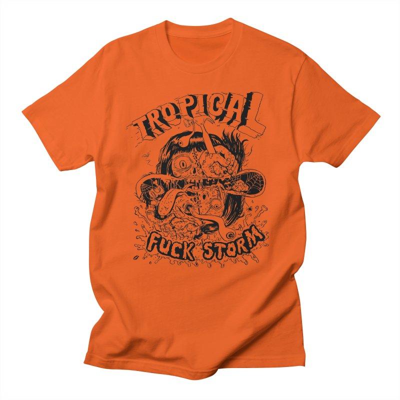Tropical Fuck Storm (Becker Goon) Outline Men's T-Shirt by Joyful Noise Recordings