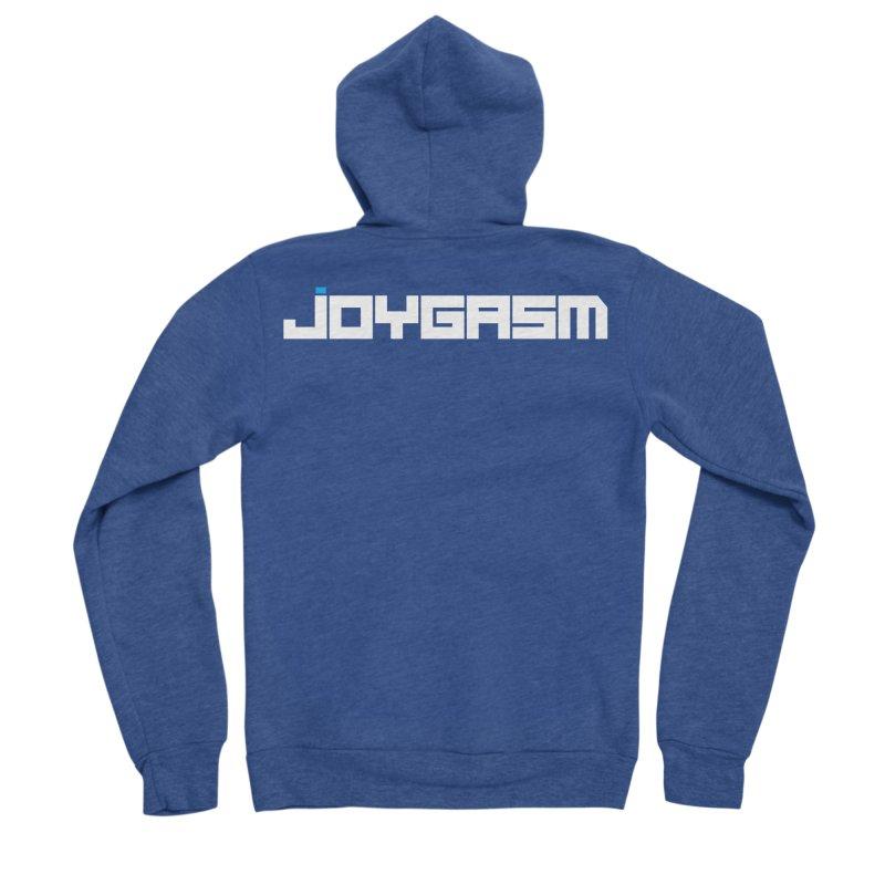 Joygasm Logo Full Name Men's Sponge Fleece Zip-Up Hoody by The Joygasm Store