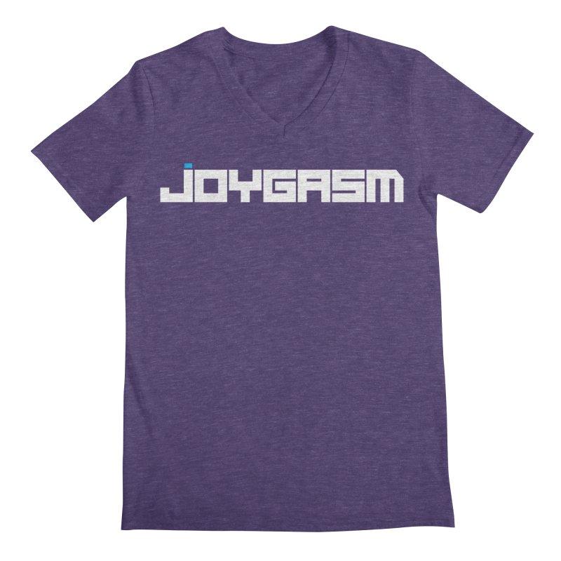 Joygasm Logo Full Name Men's Regular V-Neck by The Joygasm Store
