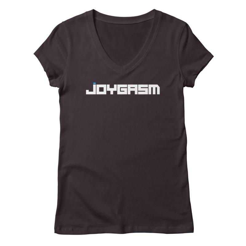 Joygasm Logo Full Name Women's Regular V-Neck by The Joygasm Store