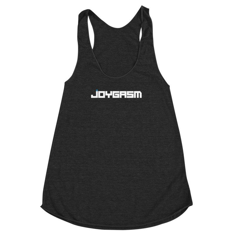 Joygasm Logo Full Name Women's Racerback Triblend Tank by The Joygasm Store