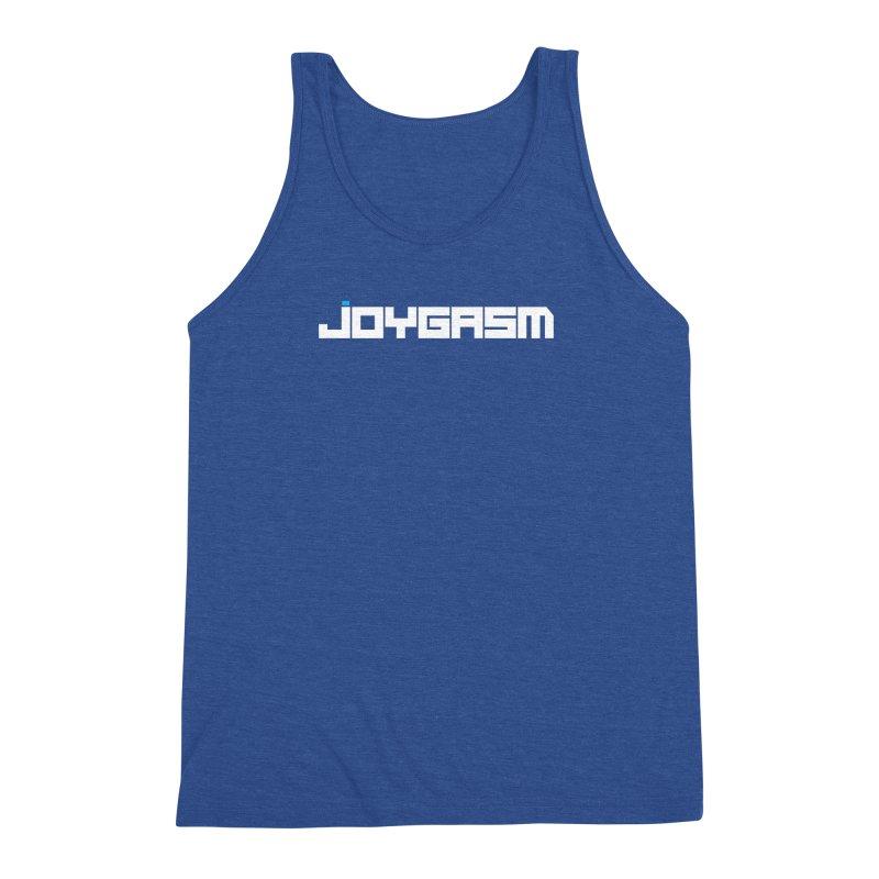 Joygasm Logo Full Name Men's Triblend Tank by The Joygasm Store