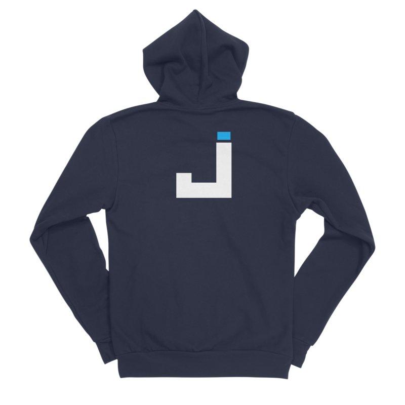 Joygasm Medium Size Logo (no text) Men's Sponge Fleece Zip-Up Hoody by The Joygasm Store