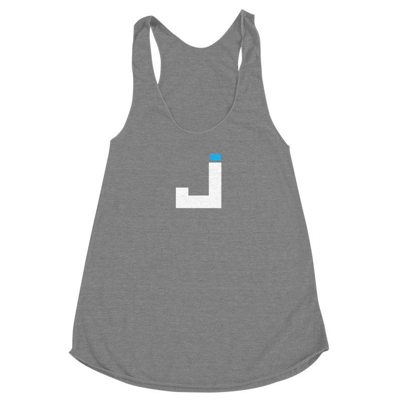 Joygasm Medium Size Logo (no text) Women's Racerback Triblend Tank by The Joygasm Store