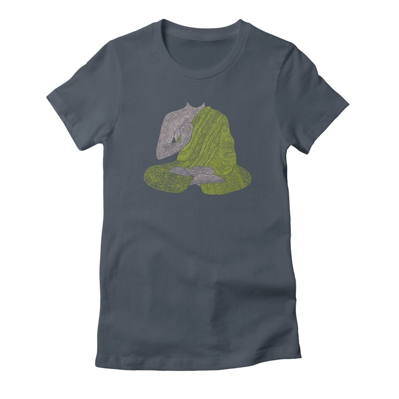 No Mind (Om Mani Padme Hum mantra) Women's Fitted T-Shirt by Joyheartist